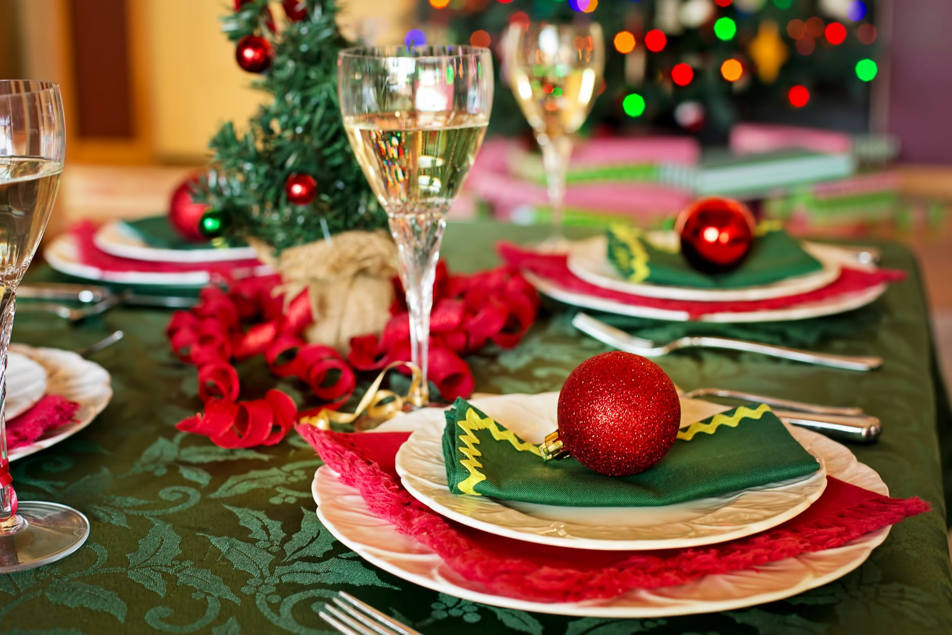 candle celebration champagne christmas